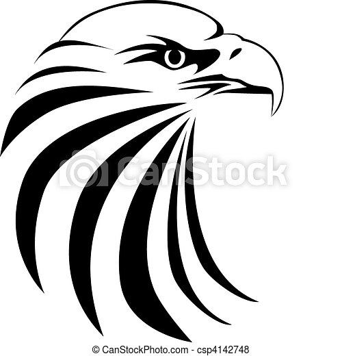 Tatuaje de cabeza de águila - csp4142748