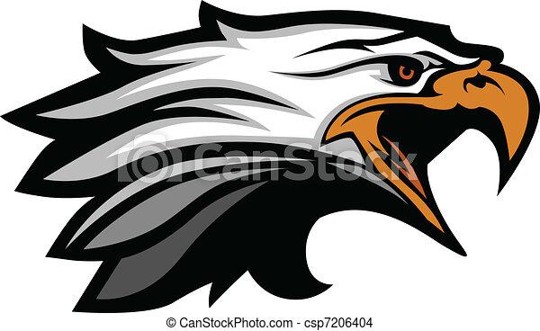 Cabeza de mapache de un vector de águila - csp7206404