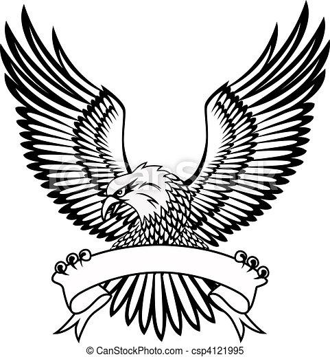 Águila con emblema - csp4121995