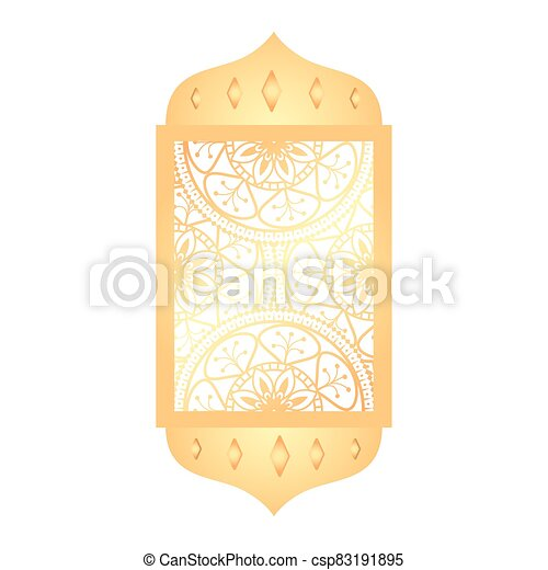 árabe, tradicional, ornamental, arco, islámico, musulmán - csp83191895