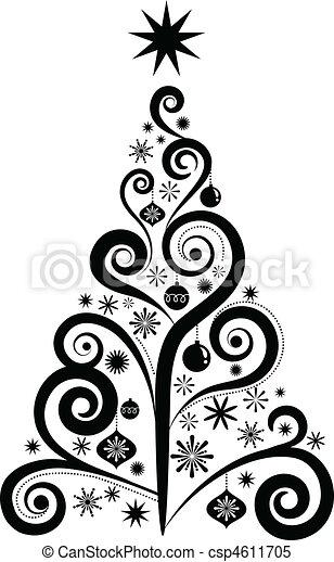 Árbol de Navidad gráfico - csp4611705
