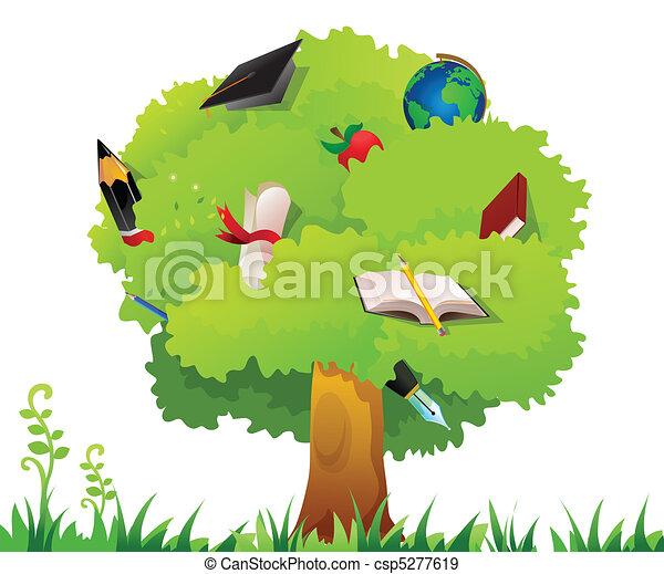 Árbol de educación - csp5277619