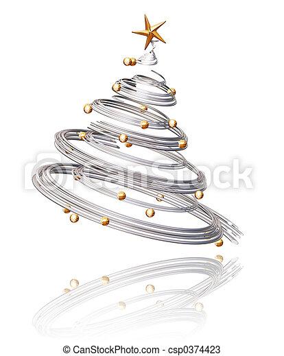 Árbol de Navidad - csp0374423
