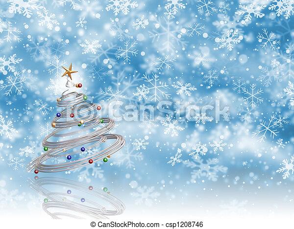 Árbol de Navidad - csp1208746