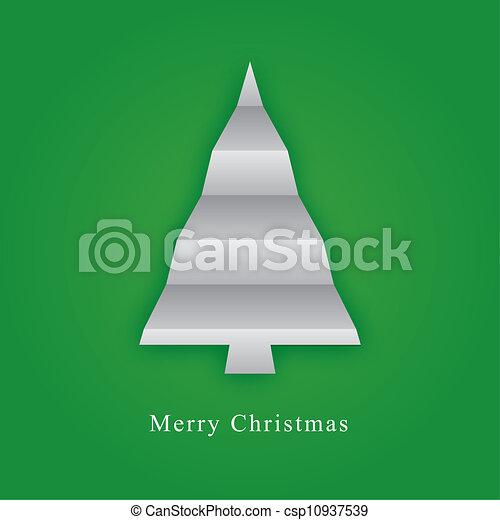Árbol navideño hecho de papel - csp10937539