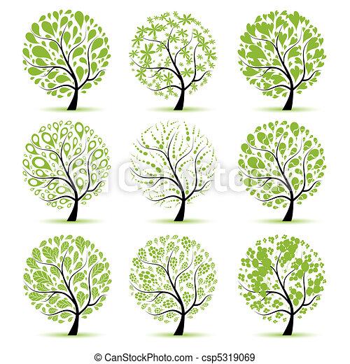 Colección de árboles de arte para tu diseño - csp5319069