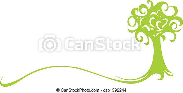 Árbol verde - csp1392244