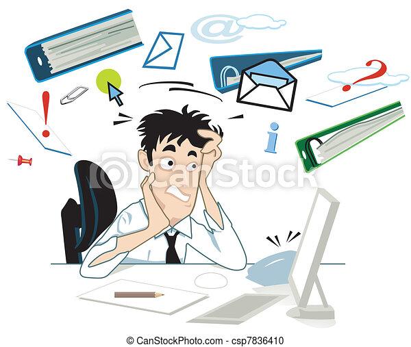 Estrés en tu escritorio - csp7836410