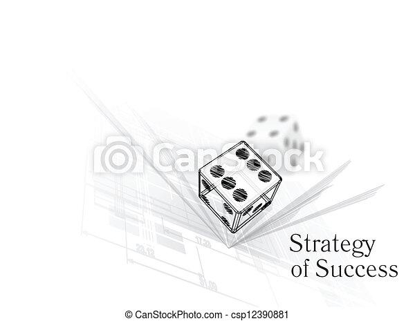 Estrategia para el éxito - csp12390881
