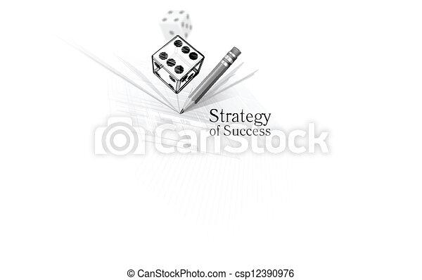 Estrategia para el éxito - csp12390976