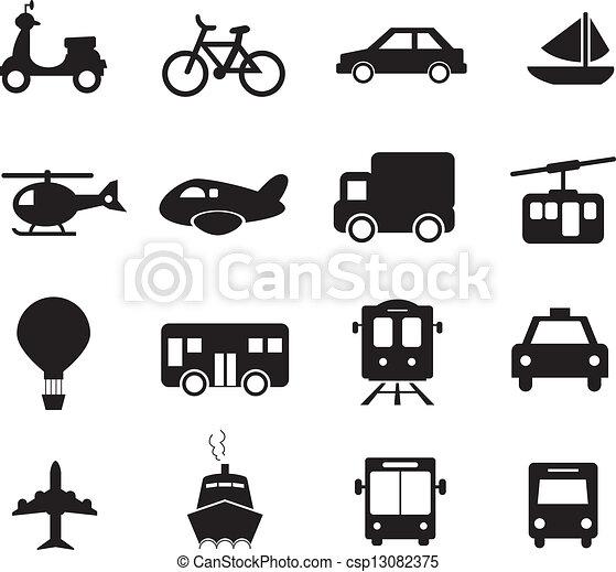 Ícono de transporte - csp13082375