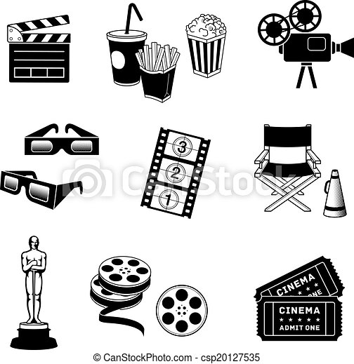 Íconos de cine - csp20127535
