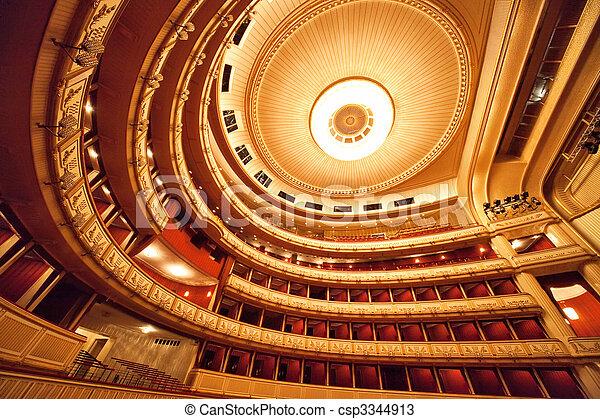 El interior de la ópera de Viena - csp3344913