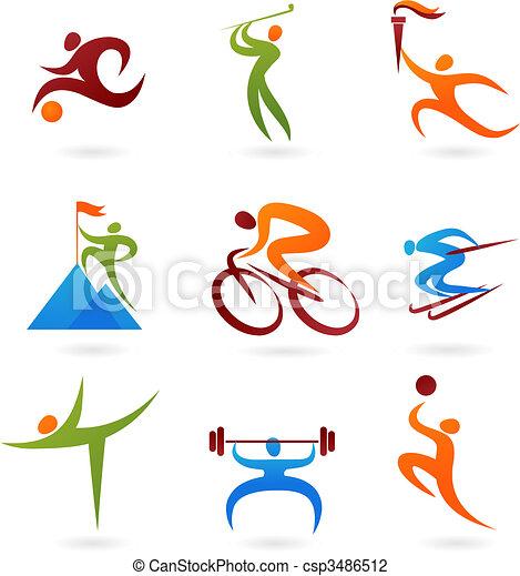 Colección de iconos deportivos -4 - csp3486512