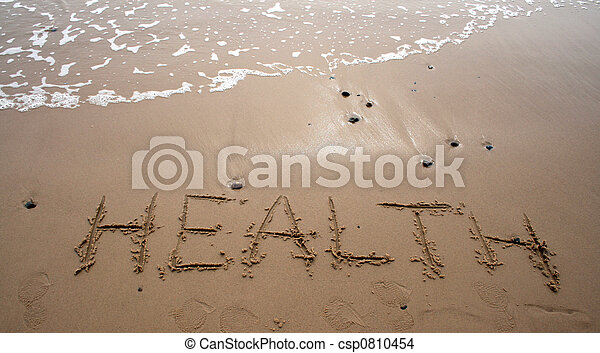 Escritura de arena, salud - csp0810454