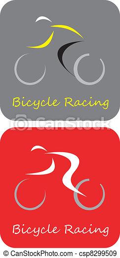 Carreras de bicicletas, icono del vector - csp8299509