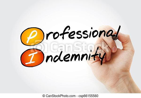 PI - indemnización profesional (seguro) - csp66155560