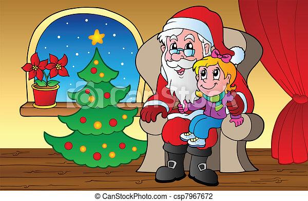 Santa Claus en la escena 1 - csp7967672