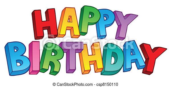 Feliz cumpleaños gran signo 1 - csp8150110