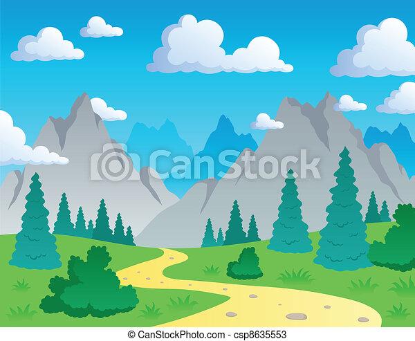 Tema de montaña 1 - csp8635553