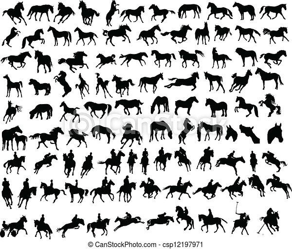 100 caballos - csp12197971