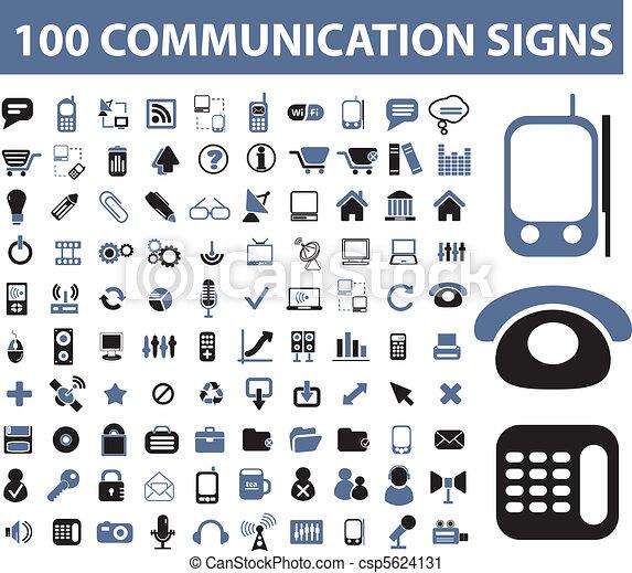 100 señales de comunicación - csp5624131