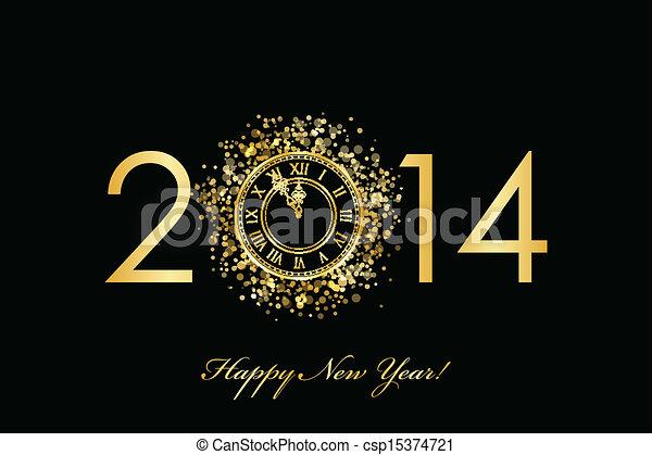 2014 feliz año nuevo - csp15374721