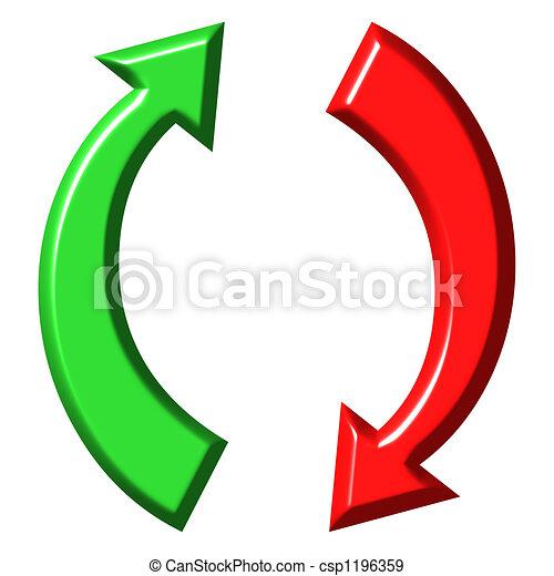3d circulares arriba y abajo flechas - csp1196359