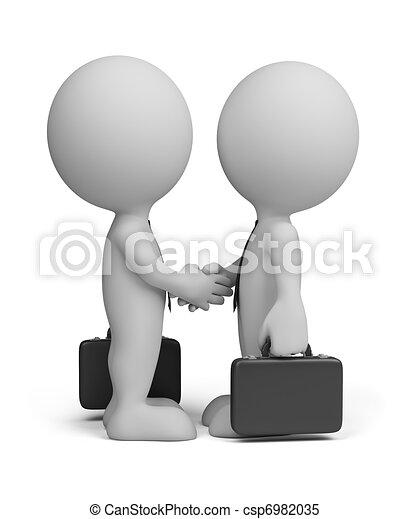 La tercera gente de negocios saluda - csp6982035