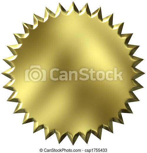 3D sello de oro - csp1755433
