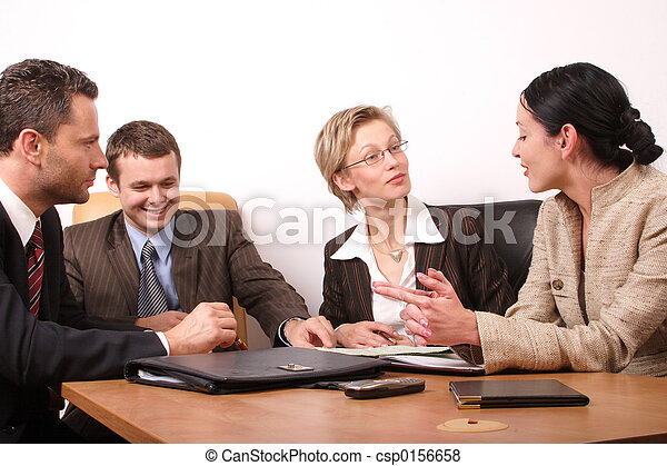 4 hombres de negocios - csp0156658