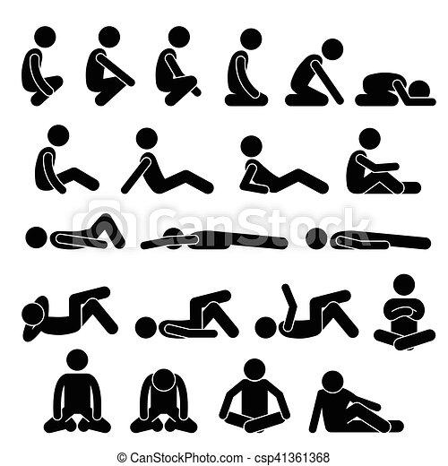 Sentado y acostado - csp41361368
