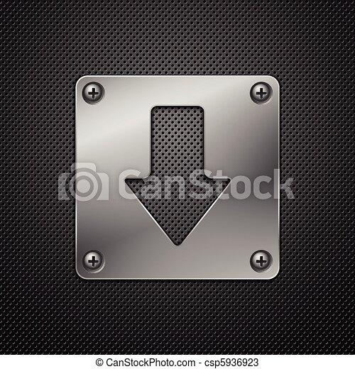 Abstracción de fondo de metal. Señal de descarga. Ilustración del vector. - csp5936923