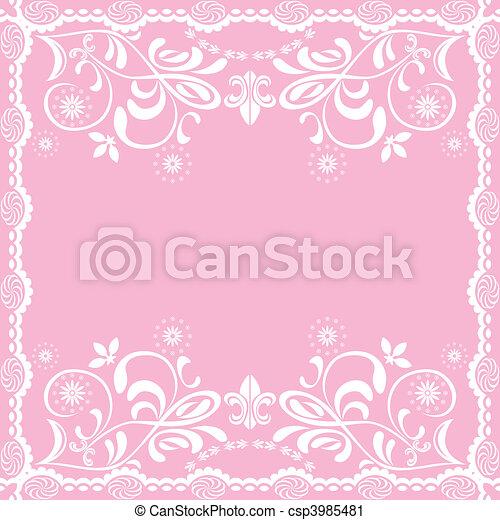 Abstracción de fondo femenino rosado - csp3985481
