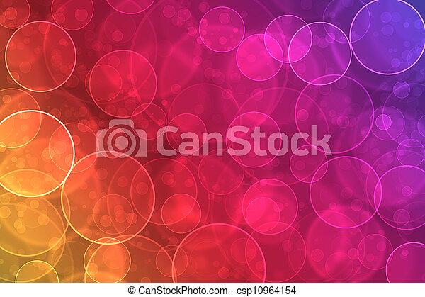 Abstracción en un colorido efecto de bokeh digital - csp10964154
