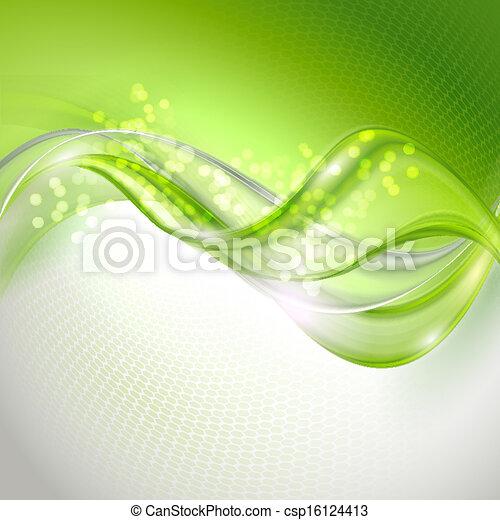 Abstract Green ondeando fondo - csp16124413