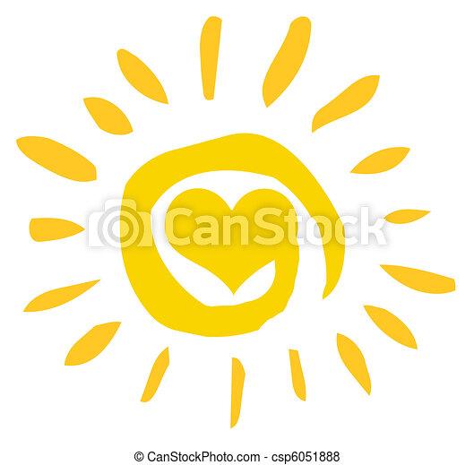 Abstracto sol con corazón - csp6051888
