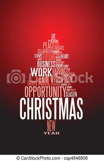 Abstrae la tarjeta de Navidad con palabras de temporada - csp4846808
