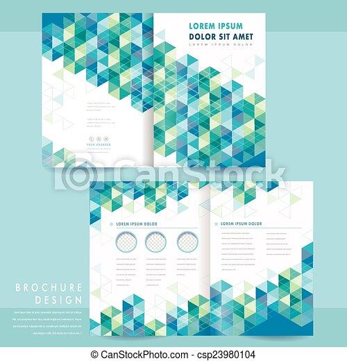 Abstraer el diseño de la plantilla de media página - csp23980104
