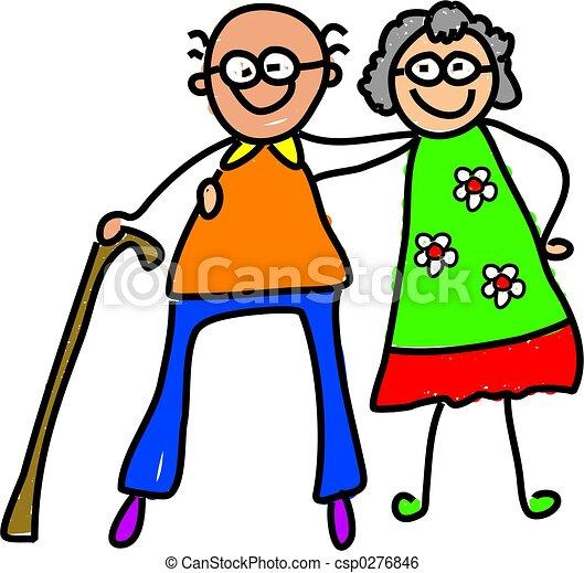 Mis abuelos - csp0276846
