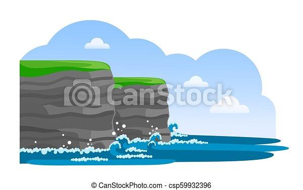 Acantilados de Moher. Atracción irlandesa. Viajar a Irlanda. - csp59932396
