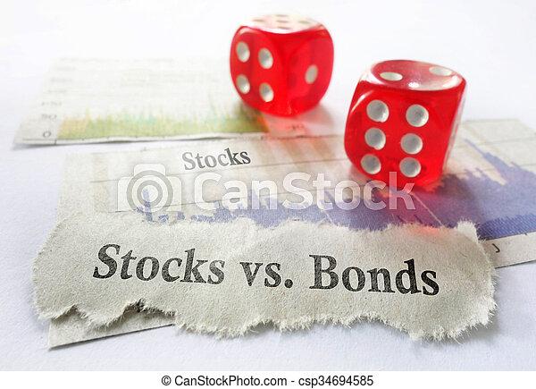 Acciones o bonos - csp34694585