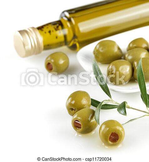Aceitunas de peluche verdes - csp11720034