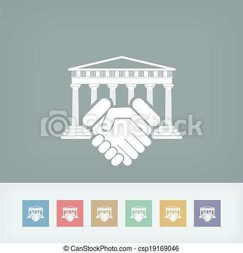 icono de acuerdo de la corte - csp19169046