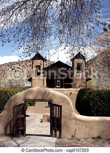 Iglesia adobe - csp0107203