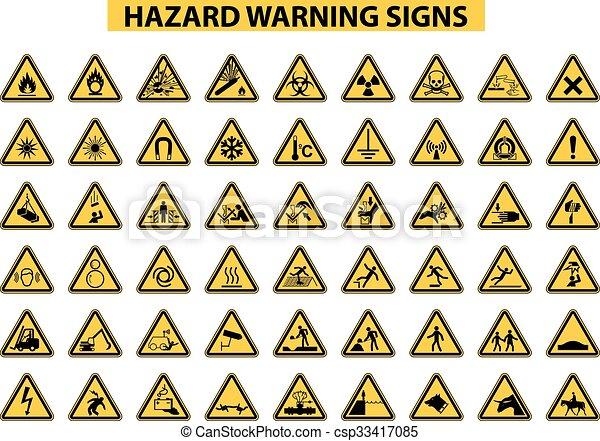 Señales de advertencia de peligro - csp33417085