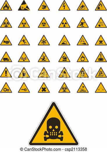 Advertencia y señales de seguridad - csp2113358