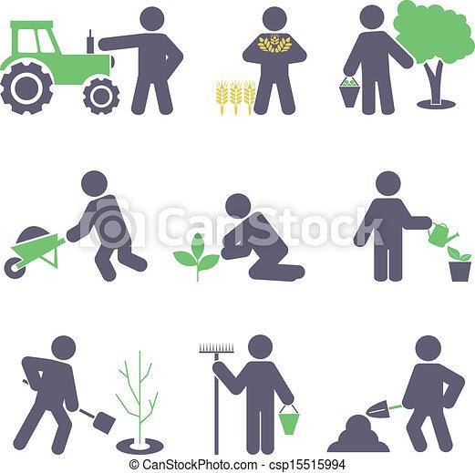 Agricultura. Colocad iconos - csp15515994