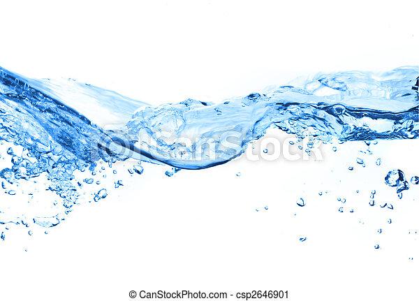 Burbujas de aire en el agua - csp2646901
