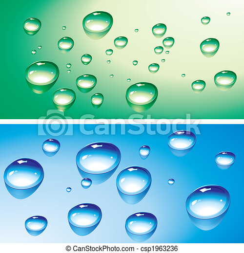Gotas de agua y gotitas - csp1963236